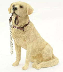GOLDEN LABRADOR DOG STATUE DOG FIGURE ORNAMENT GIFT BOXED BRAND NEW