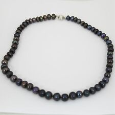 Brand New Freshwater Pearl Necklace Silver Plated Clasp Delny