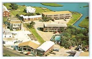 HATTERAS, NC North Carolina ~ Roadside Hatteras MARLIN HOTEL c1960s  Postcard