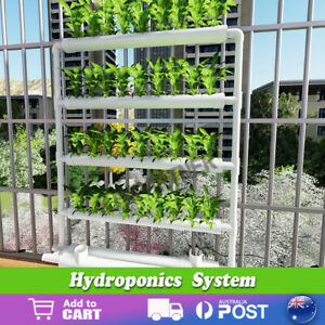 Hydroponic Grow Tool Kits Vegetable Garden System Ladder Wall Hanging Water Pump