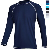 UPF 50+ Men's Long Sleeve Skin Protection T-Shirt Outdoor Fishing Gym Sport Tops
