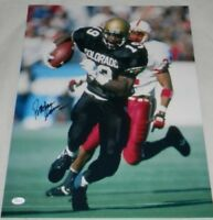 RASHAAN SALAAM AUTOGRAPHED SIGNED COLORADO BUFFALOES 16x20 PHOTO JSA