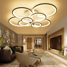 100W 8-LED Ceiling Light Dimmable Chandeliers Lamp Ceiling Fixtures w/ Remote