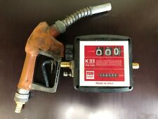 PIUSI K33 Mechanical Flow Meter for Diesel + Nozzle