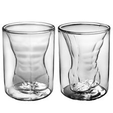 Heat Resistant Sexy Man Borosilicate Glass Gift Set 2 Male 6 oz Glasses for her