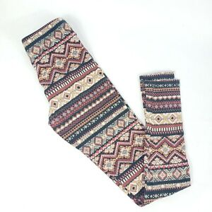 Forever 21 Leggings Aztec print stretch S geometric brown black
