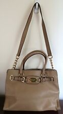 Michael Kors Hamilton Large EW Tote  BEIGE  Leather bag purse