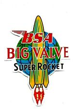 BSA SUPER ROCKET BIG VALVE Vinyl DECAL STICKER NORTON TRIUMPH MOTORCYCLE ARIEL