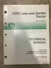 JOHN DEERE 355D LAWN & GARDEN TRACTOR TECHNICAL MANUAL TM1771(MAY00) SER#085001-