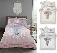 Luxuries EBONY Printed Reversable Duvet Cover+PillowCase Bedding Set All Size GC