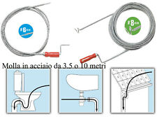 Sturalavandino Stura tubi lavandino sonda a molla wc scarichi grondaie 10 metri