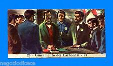 CENTENARIO UNITA D'ITALIA - Figurina-Sticker n. 20-21 -GIURAMENTO CARBONARI-Rec