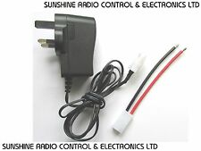 RC 12 Volt Power Supply AC To DC 12V 1.2 Amp 1200mA Fitted With Male Tamiya Plug