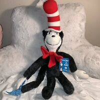 """NEW Vintage 1983 Dr. Seuss Cat In The Hat 25"""" Plush Coleco Stuffed Animal NWT"""