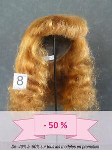50% Promo Peluca de Muñeca T8 (31.5cm) Cabellos Larga Marrón-rojo