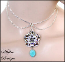 Turquoise Alloy Fashion Chokers