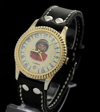 Vintage Watch POLJOT Yuri Gagarin space  Soviet mechanical men's DATE