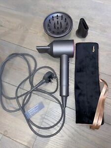 Dyson Supersonic Hairdryer Iron/Fuschia Mat Diffuser Nozzles Hardly Used RRP£300