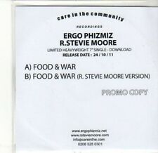 (CA752) Ergo Phizmiz/R Stevie Moore, Food & War - 2011 DJ CD