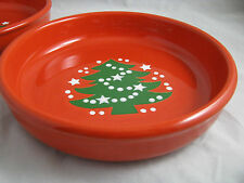 2 Christmas Tree Pasta Bowls Waechtersbach German Stoneware NEW