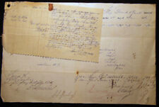 1862 MANUSCRIPT DOCUMENTS SHIP FRANK BOULT LATER MAINE UNION CAVALRY TRANSPORT