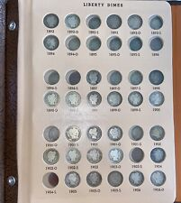 New listing Liberty Head (Barber) Dime Partial Collection- 55 Coins W/ Semi-Key Dates