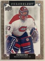 2018-19 Upper Deck Chronology #33 Patrick Roy #/222 Montreal Canadiens