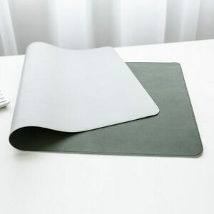 Double-sided Waterproof PU Leather Suede Desk Mat Computer Mousepad Keyboard