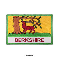 BERKSHIRE County Flag With Name Embroidered Patch Iron on Sew On Badge