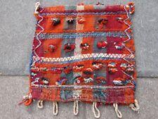 Old Traditional Hand Made Persian Oriental Wool Orange Kilim Bag 59x55cm