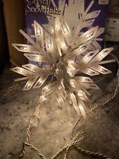 "Designer Choice 10"" Hanging Crystal Snowflake 48 Light Snowflake Christmas"