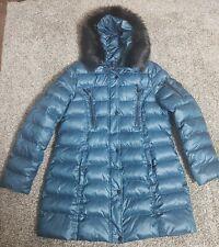 Laundry by Shelli Segal Faux-Fur-Trim Puffer Down Coat Jacket Size XL