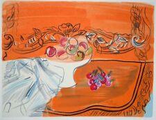 """""""Nature morte aux fruits""""  lithographie signée Raoul DUFY"""