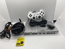 Sony PS2 PlayStation 2 Slim SILVER Console Bundle SCPH-77001 OEM