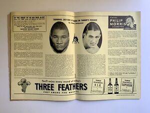 Vintage Boxing Program Beau Jack vs Fritzie Zivic 1943 Madison Square Garden