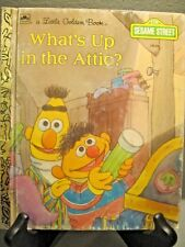 A LITTLE GOLDEN BOOK SESAME STREET WHATS UP IN THE ATTIC