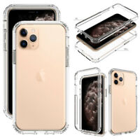For iPhone 11/11 Pro/11 Pro Max Case Clear Crystal Ultra Slim Rugged Phone Cover