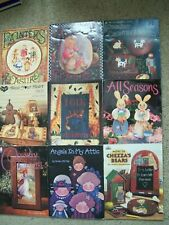 LOT OF 9 FOLK ART TOLE PAINTING INSTRUCTION BOOKS.HELAN BARRICK, SUSIE SAUNDERS