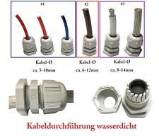 Zugentlastung / Kabeldurchführung verschraubt wasserdicht für Stromkabel etc. #2