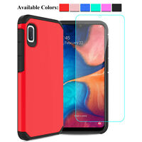 For Samsung Galaxy A10e A20 A50 Shockproof TPU Case Cover+Glass Screen Protector