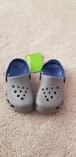 Crocs New With Tags Grey Blue Size 12 Kids C12