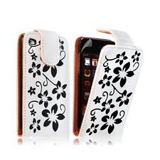 Housse coque étui pour Apple Ipod 4G couleur blanc avec motifs fleurs + film pro