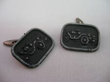 Vintage Mens Cufflinks: Antique Cars by Lorberay
