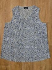LADIES EXPRESSION MATERNITY SIZE 16 SLEEVELESS BLOUSE TOP FLORAL PRINT ~ EUC