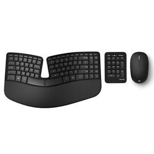Microsoft Sculpt Ergonomic Keyboard Black + Bluetooth Mouse Matte Black - Wired