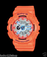 BA-110SN-4A Orange Casio Baby-G Analog-Digital Display Watch New Women's New