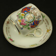 Hammersely Hand Painted Edward VIII Acceded 1936 Coronation 1937 Cup & Saucer