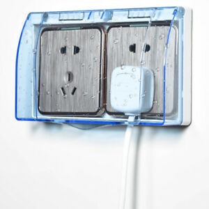 2-Gang Wall Socket Waterproof Cover Outlet Case Panel Switch Box Protector