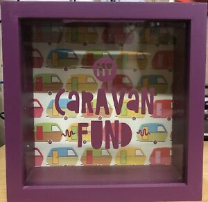 CARAVAN FUND Money Box Bank Pottery  Gift New IN BOX