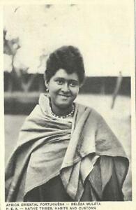 OLD RUFINO POSTCARD 1920's MOZAMBIQUE NATIVE TRIBE BELEZA MULATA MULATTA BEAUTY